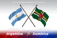 Argentina vs Dominica Two Flags Product Image 1