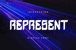 Web Font Represent Font Product Image 1