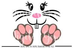 Rabbit face and feet SVG / PNG / EPS / DXF files Product Image 1