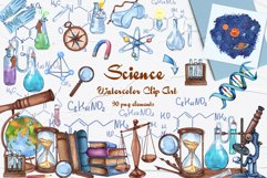 Science Watercolor Clip Art Product Image 1