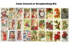 Vintage Christmas Junk Journal or Scrapbook Add Ons Kit PDF Product Image 4