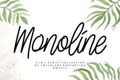 3 in 1 Monoline Script Font Product Image 1