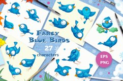 Fancy Blue Birds. Big set. Characters. Product Image 3