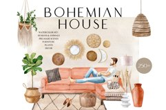 Bohemian House Watercolor set Product Image 1
