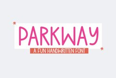Parkway - A Fun Handwritten Font Product Image 1