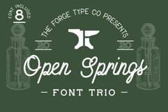 Open Springs - Font Trio Product Image 1