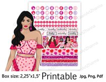 """Galentine's Day Printable Sticker Box Size 2,25""""x1,5"""" Product Image 5"""