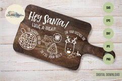 Christmas Hey Santa Cookies for Santa Tray SVG Product Image 3
