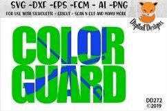 Color Guard Knockout SVG Product Image 1