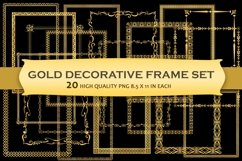 Gold Decorative Frames Clipart - Set of 20 Product Image 1