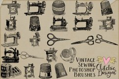 Vintage Sewing Illustrations and Photoshop Brushes Product Image 3