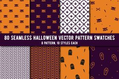 80 Halloween Seamless Vector Pattern Swatches Product Image 1
