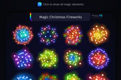 Magic Christmas Lights Vector Brushes Big Set Product Image 12