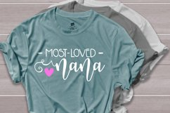 Most loved nana svg, grandma shirt svg Product Image 2