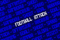 Football Attack Sport Font Product Image 3