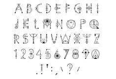 Sacred Geometry Font Product Image 8