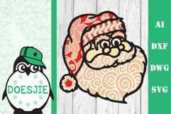 Christmas bundle 5 designs 3d layered mandala zentangle svg Product Image 3