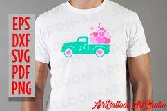 Valentines SVG Valentines Day Truck Svg Love Svg Valentine Product Image 5