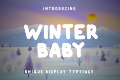 Winter Baby Display Font Product Image 1