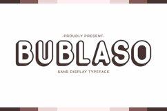 Web Font Bublaso Product Image 1