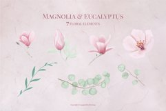 Magnolia & Eucalyptus Floral Alphabet Product Image 4