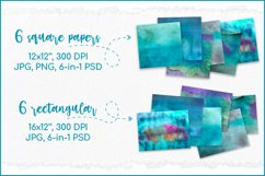 Turquoise Watercolor Background, Sublimation Watercolor Product Image 2