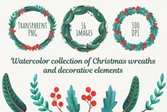 Christmas collection of wreaths and decorative elements Product Image 1