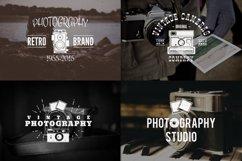 Vintage Photography SVG Bundle Photographer Logos Silhouette Product Image 3