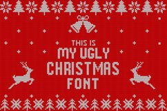 Christmas Knitted Font Product Image 1