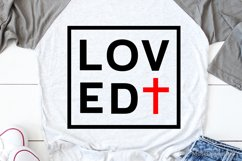 Loved Svg, Valentines Day Svg, Christian Svg, So Loved John Product Image 1