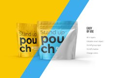 Zip Stand-up Pouch Mockup square Product Image 3