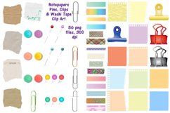 Notepapers, Pins, Paper Clips, Washi Tape Etc. Clip Art Product Image 1