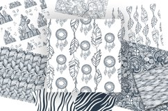 17 Doodle patterns for pillow design Product Image 3