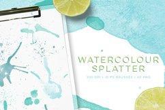 Watercolour Splatter Photoshop Brushes Product Image 1