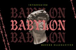 Babylon | Modern Blackletter Product Image 1