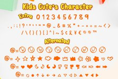 Kids Cute- Child font with doodle glyphs Product Image 3