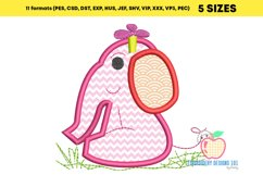 Baby Girl Elephant Embroidery Applique Product Image 2