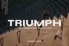 Triumph Wide Sans Serif Font Product Image 1