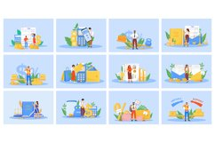 Taxes and payments flat concept vector illustrations set Product Image 1