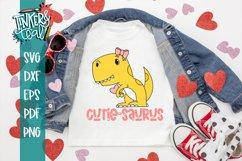 Dinosaur SVG / Valentine SVG / Cutiesaurus SVG Product Image 1