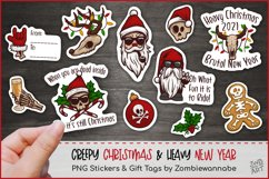 Creepy Christmas & Heavy New Year Stickers, Christmas PNG Product Image 1