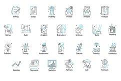 Web Font Line Flat font line flat icon Product Image 6
