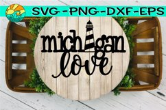 Michigan Love - Lighthouse - Welded - SVG - PNG - EPS - DXF Product Image 1