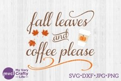 Fall Leaves and Coffee Please Product Image 1