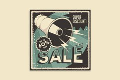 Retro Sale Discount Poster and Badge Product Image 7