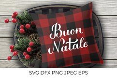 Buon Natale calligraphy lettering Merry Christmas in Italian Product Image 3