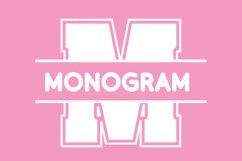 College Sport Split Monogram Font Product Image 1