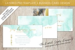Business Card Template for Adobe Photoshop - Layered PSD Template - Design #1 Product Image 1