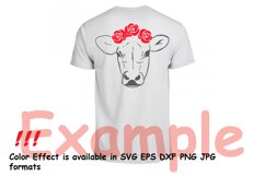 Cow with Flowers SVG, Bandanna Flower , Heifer SVG -74SV Product Image 6