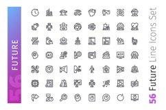 Future Line Icons Set Product Image 2